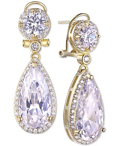 7d4235964 Tiara Cubic Zirconia Teardrop Dangle Drop Earrings