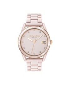 COACH Women's Preston Blush Ceramic Bracelet Watch 36mm