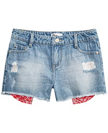 Epic Threads Big Girls Destructed Denim Shorts, Created for Macy's