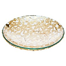 Godinger Key Design Bowl Gold - Large