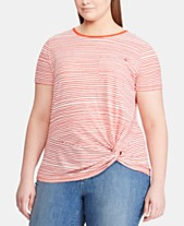 cedae2ae2 Lauren Ralph Lauren Plus Size Pocket T-Shirt