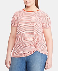 Lauren Ralph Lauren Plus Size Pocket T-Shirt