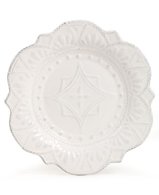 Blanc Amelie Scalloped Salad Plate