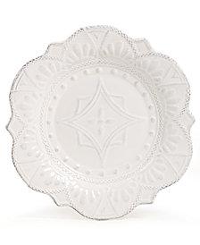 Maison Versailles Blanc Amelie Scalloped Salad Plate