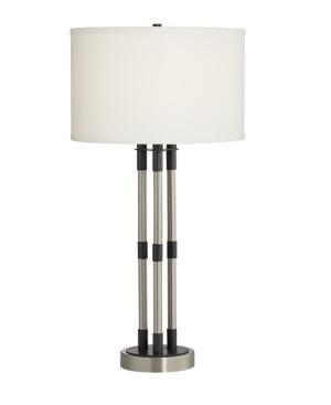 Pacific Coast 3 Column Table Lamp in Gunmetal Finish
