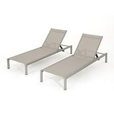 Navan Outdoor Chaise (Set of 2), Quick Ship