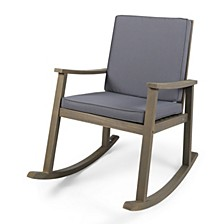 Candel Outdoor Rocking Chair, Quick Ship