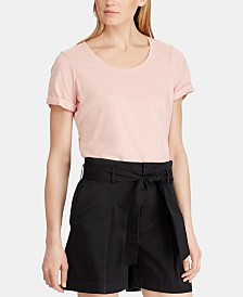 Lauren Ralph Lauren Scoop-Neck Cotton T-Shirt