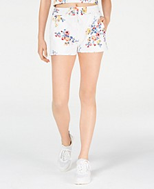 Juniors' Printed French Terry Soft Shorts, Created for Macy's