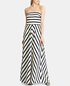 Lauren Ralph Lauren Striped Faille Gown