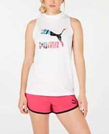 Puma Clash Printed-Logo Tank Top