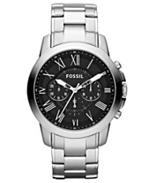580158a22913 Fossil Men s Chronograph Grant Stainless Steel Bracelet Watch 44mm FS4736