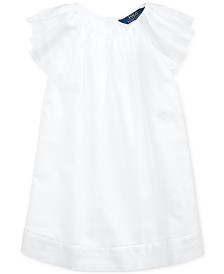 Polo Ralph Lauren Little Girls Flutter-Sleeve Cotton Dress