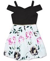 5f392ead09a4 Speechless Big Girls Floral-Print Cold Shoulder Dress