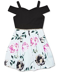 Speechless Big Girls Floral-Print Cold Shoulder Dress