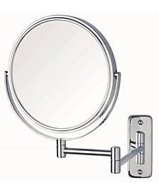 "The JP7808C 8"" Wall Mount Makeup Mirror"