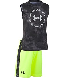 Under Armour Little Boys Electronoise 2-Pc. Logo Tank & Shorts Set