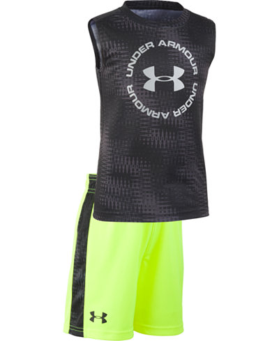 Under Armour Toddler Boys Electronoise 2-Pc. Logo Tank & Shorts Set