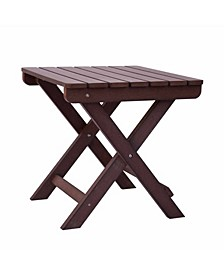 Adirondack Square Folding Table, Recycled Plastic