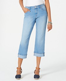 Style & Co Petite Cuffed Capri Jeans, Created for Macy's