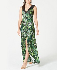 Ruffled Printed Gown