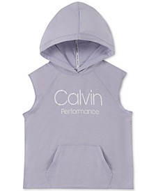 Big Girls Slim-Fit Sleeveless Logo Hoodie