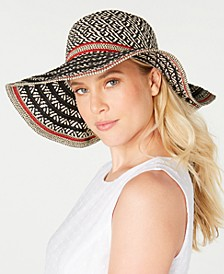 INC Striped Floppy Hat, Created for Macy's