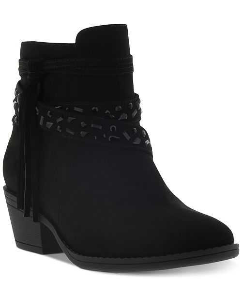 Kenneth Cole Little & Big Girls Taylor Stone Wedge Boots