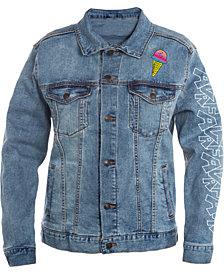 Peanuts Collection- Men's Ice Cream Graphic Trucker Jacket