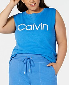 Calvin Klein Performance Plus Size Sleeveless T-Shirt