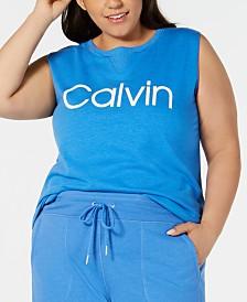 Calvin Klein Performance Plus Size Sleeveless T-Shirt