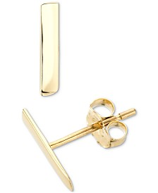Elsie May Polished Mini-Dash Stud Earrings in 14k Gold
