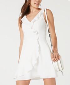 Teeze Me Juniors' Ruffled Wrap Dress