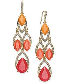 INC Crystal & Stone Chandelier Earrings, Created for Macy's