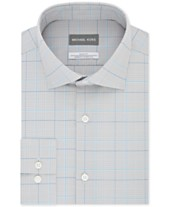 f04c3101c Michael Kors Men's Slim-Fit Airsoft Stretch Moisture-Wicking Non-Iron Check  Dress