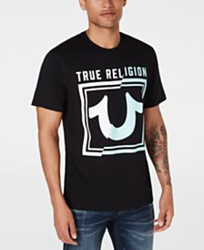 True Religion Men's Spliced Logo T-Shirt