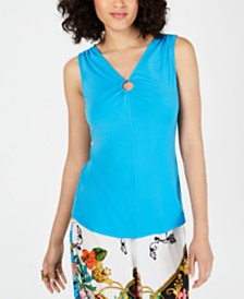 Thalia Sodi Sleeveless Keyhole Top, Created for Macy's