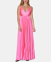 933f86bf7842b Laundry by Shelli Segal V-Neck Pleated Gown