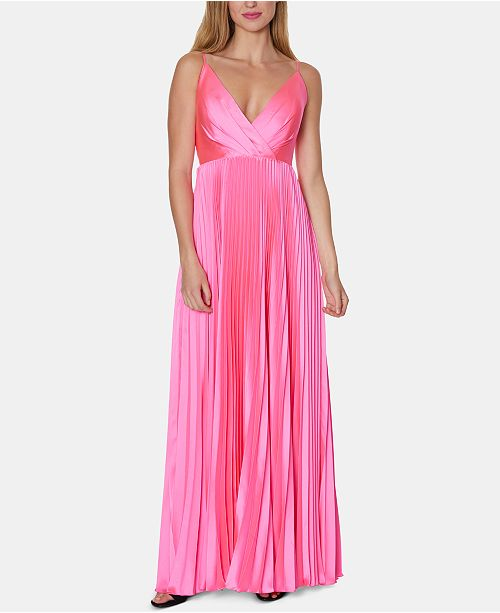 Laundry by Shelli Segal V-Neck Pleated Gown