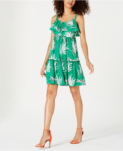Taylor Tiered Empire-Waist Mini Dress