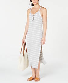Miken Striped Cover-Up Dress, Created for Macy's