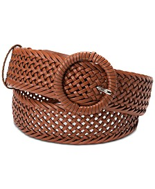 I.N.C. Woven Braid Wrapped Buckle Belt, Created for Macy's