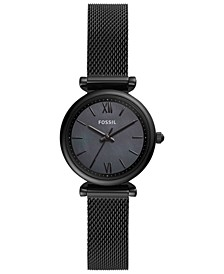 Women's Carlie Mini Black Stainless Steel Bracelet Watch 28mm