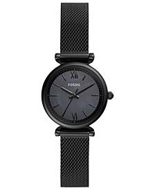 Women's Carlie Mini Black Stainless Steel Bracelet Watch 28mm