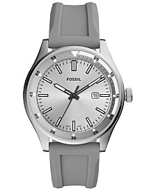 Fossil Men's Belmar Gray Silicone Strap Watch 44mm