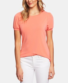 CeCe Puffed-Sleeve Top
