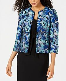 Jacquard Jacket & Belted Sheath Dress