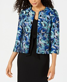 Kasper Jacquard Jacket & Belted Sheath Dress