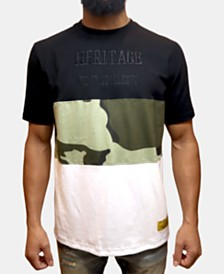 Heritage America Men's Colorblocked Camo T-Shirt