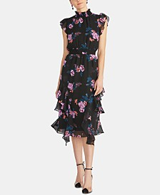 RACHEL Rachel Roy Nikita Floral-Print Smocked Dress
